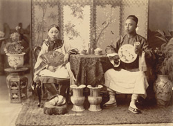 Chinese merchant & wife [Burma]